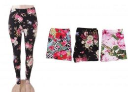 72 Units of Women's Printed Fashion Leggings Ultra Soft And Patterned - Womens Leggings