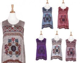 72 Units of Womens Girls Embroidered Peasant Tops Mexican Bohemian Blouses - Womens Fashion Tops