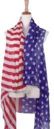 120 Units of American Flag Patriotic Shawl Wrap Cardigan July 4 USA Stars Stripes Open Kimono Cardigan, Long Vest Scarf - Winter Pashminas and Ponchos