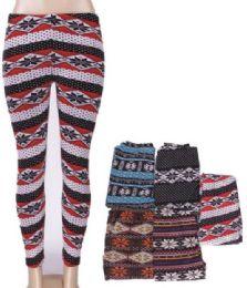36 Units of Women Printed High Waist Ultra Soft Yoga Pants Comfy Workout Fashion Leggings - Womens Leggings