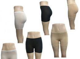 72 Units of Women's Comfortable Cotton Bike Yoga Boxer Brief Boyshort - Womens Panties & Underwear