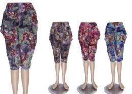 72 Units of Capri Pants For Women Casual Print - Womens Pants