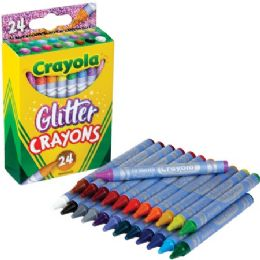 288 Units of Crayola Glitter Crayons - Crayon