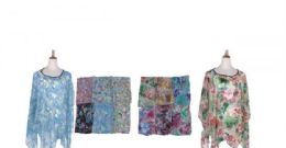 60 Units of Womens Printed Poncho Batwing - Womens Fashion Tops