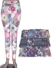 72 Units of Women's Popular Buttery Soft Classic Fashion Print Leggings - Womens Leggings