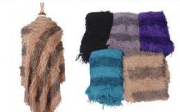 18 Units of Womens Classic Soft Knit Poncho Shawl Wrap Winter Warm Fringe Sweater Cape Stripe Pullover - Womens Fashion Tops