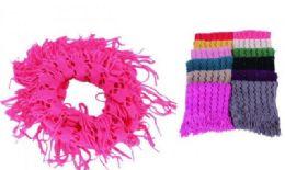 60 Units of Women's Fringe Winter Infinity Scarf - Womens Fashion Scarves
