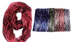 72 Units of Women's Printed Light Weight Infinity Scarf - Womens Fashion Scarves