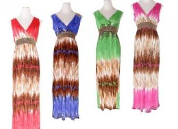 48 Units of Womens Fashion Sun Dresses Assorted Colors And Sizes Summer Dresses - Womens Sundresses & Fashion