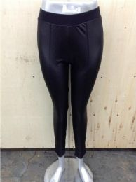 48 Units of Womens Faux Leather Leggings Stretch Pleather Pants - Womens Leggings