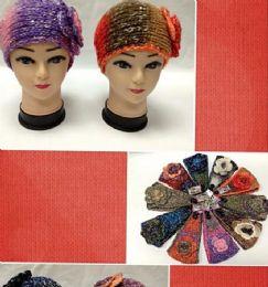 96 Units of Knit Flower Headband - Ear Warmers