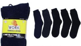 150 Units of Contractor Thermal Socks - Big And Tall Mens Tube Socks