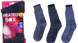 60 Units of Mens Heated Sock - Big And Tall Mens Tube Socks