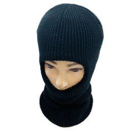 36 Units of Ski Face Cover One Hole Black Only - Unisex Ski Masks