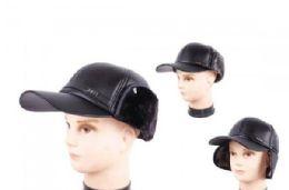 48 Units of Men Trapper Hat With Faux Fur - Trapper Hats