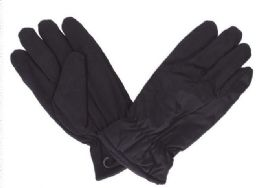 48 Units of Men's Black Winter Gloves - Winter Gloves
