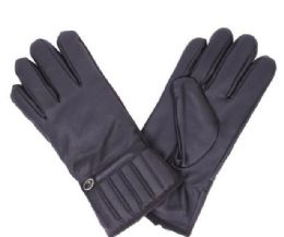 72 Units of Men's Leather Glove Black Only - Leather Gloves