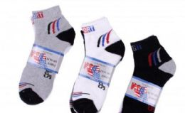 300 Units of Men's Sport Ankle Sock Assorted - Mens Ankle Sock