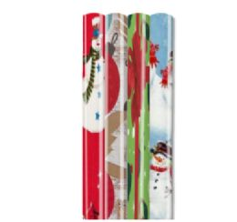 "66 Units of CHRISTMAS GIFT WRAP 40 SQ FT 40""X12' ASSORTED STYLE #1 - Christmas Decorations"