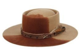 2 Units of Morrenton Wool Felt Fedora With Band And Feather - Fedoras, Driver Caps & Visor