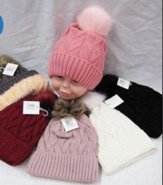 36 Units of Kid Winter Hat Assorted Color - Winter Beanie Hats