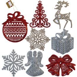 48 Units of Jumbo Glitter Christmas Ornaments - Christmas Ornament
