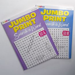 24 Units of Puzzle Search A Word 80pg Jumbo 2 Titles - Coloring & Activity Books