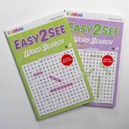 24 Units of Word Search 80pg Easy To See 2 Titles Digest - Coloring & Activity Books
