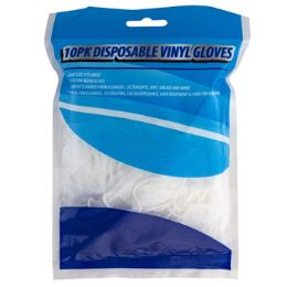 48 Units of Gloves Disposable Vinyl 10pk Universal Size - Kitchen Gloves