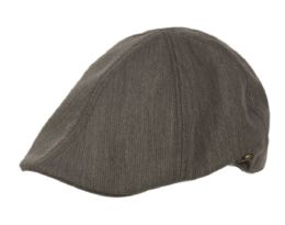 12 Units of Poly Wool Ivy Caps In Grey - Fedoras, Driver Caps & Visor