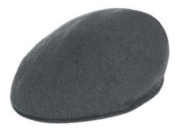 12 Units of Soft Wool Felt Ivy Caps In Grey - Fedoras, Driver Caps & Visor