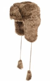 12 Units of Winter Faux Fur Trooper Hat Assorted Color - Trapper Hats