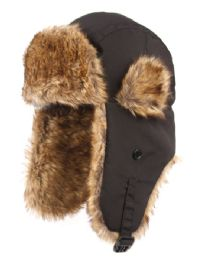 12 Units of Winter Faux Fur Bomber Trapper Hat - Trapper Hats