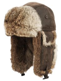 4 Units of Winter Faux Fur Bomber Trapper Hat In Brown - Trapper Hats
