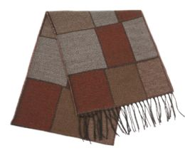 24 Units of Mens Winter Multi Patch Scarf - Winter Scarves
