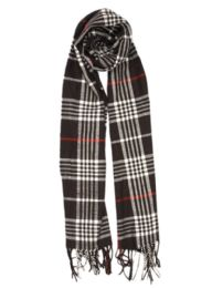 24 Units of Plaid Soft Cashmere Feel Scarf in Black - Winter Scarves