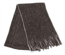 12 Units of Mens Winter Knit Denim Scarf In Black - Winter Scarves
