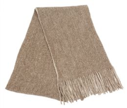 12 Units of Mens Winter Knit Denim Scarf In Brown - Winter Scarves