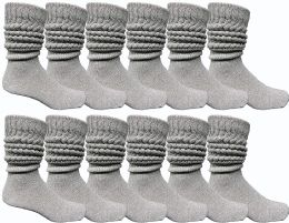 12 Units of Yacht & Smith Men's Cotton Extra Heavy Slouch Socks, Boot Sock - Mens Crew Socks