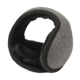 18 Units of Winter Ear Warmer With Faux Fur Lining In Charcoal - Ear Warmers