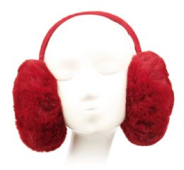 12 Units of Winter Warm Faux Fur Earmuff Assorted Color - Ear Warmers