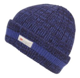 24 Units of Thinsulate Two Tone Mix Color Kids Winter Knit Beanie With Fleece Lining - Junior / Kids Winter Hats