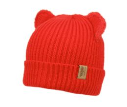24 Units of Kids Cable Knit Beanie With Sherpa Lining - Junior / Kids Winter Hats