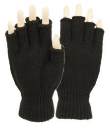 48 Units of Half Finger Knit Gloves - Conductive Texting Gloves