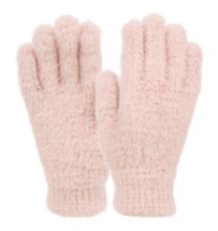 12 Units of Ladies Soft Fur Winter Glove In Assorted Color - Fuzzy Gloves