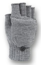 48 Units of Fingerless Knit Glove With Flip In Assorted Color - Conductive Texting Gloves