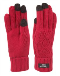 12 Units of Thermal Knit Gloves With Screen Touch Assorted Color - Winter Gloves