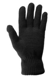 24 Units of Ladies Thermal Knit Warm Glove In Black - Winter Gloves