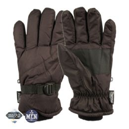 12 Units of Mens Waterproof Ski Glove With Thermal Fleece Lining - Ski Gloves