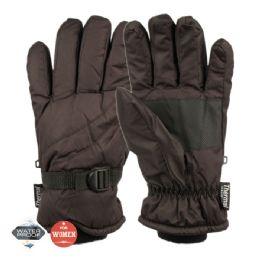 12 Units of Ladies Waterproof Ski Glove With Thermal Fleece Lining - Ski Gloves